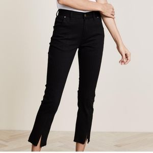 Evidnt Los Angeles Black Front Slit Cropped Jeans